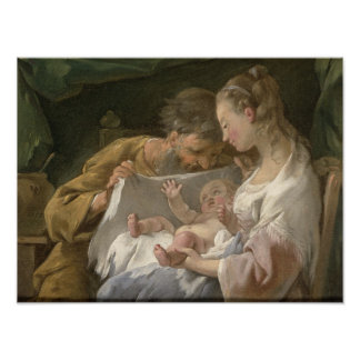 The Holy Family, 18th century Poster