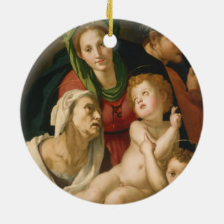 The Holy Family - Agnolo Bronzino Round Ceramic Decoration