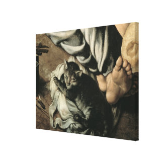 The Holy Family around a Fire, c.1532-33 Canvas Print