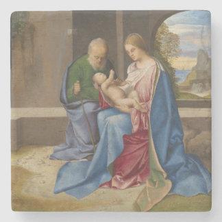 The Holy Family by Giorgione Stone Coaster