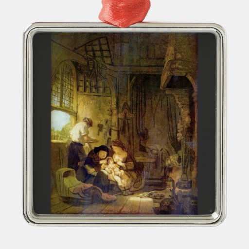 The Holy Family by Rembrandt Harmenszoon van Rijn Ornaments