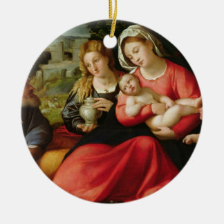 The Holy Family, c.1508-12 (oil on canvas) Christmas Ornaments