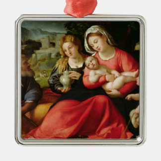 The Holy Family c 1508-12 oil on canvas Christmas Tree Ornaments