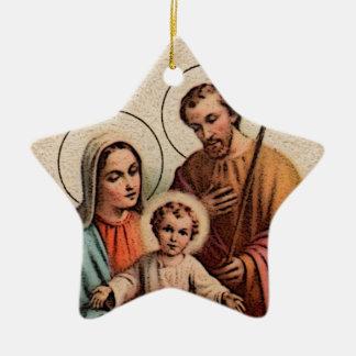 The Holy Family - Jesus Mary and Joseph Christmas Ornaments