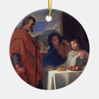 The Holy Family, or The Grace (oil on canvas) Round Ceramic Decoration
