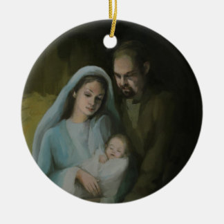 The Holy Family Round Ceramic Decoration