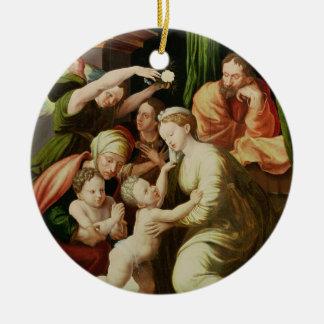 The Holy Family Round Ceramic Decoration