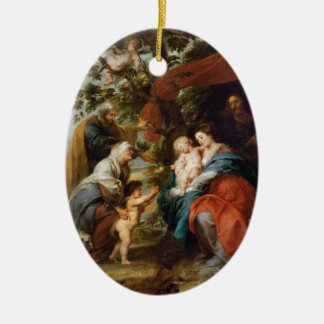 The Holy Family under the apple tree Rubens Paul Ceramic Oval Decoration
