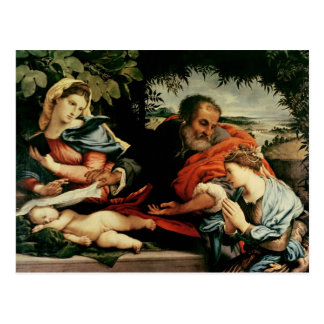 The Holy Family with St. Catherine of Postcard