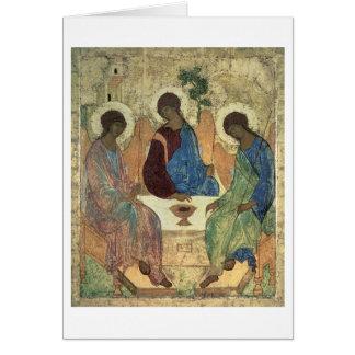 The Holy Trinity, 1420s (tempera on panel) Card