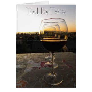 The Holy Trinity Wine Postcard! Card