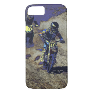 The Home Stretch! - Motocross Racer iPhone 8/7 Case