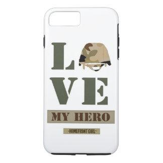 "The Homefront Girl™ Brand ""Love MY Hero"" design iPhone 7 Plus Case"