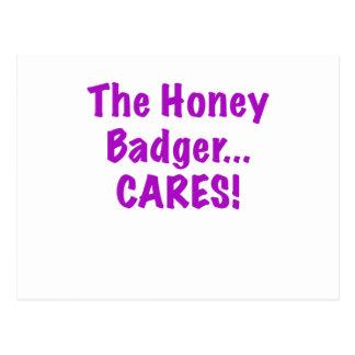 The Honey Badger Cares Postcard