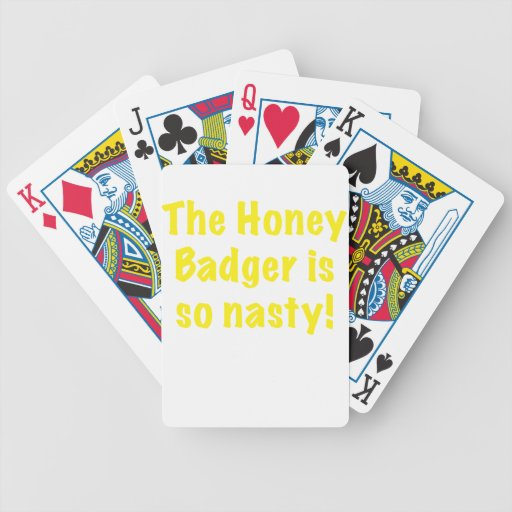 The Honey Badger is So Nasty Bicycle Poker Deck