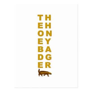 the honey badger postcard