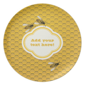 The Honeycomb and Bees Dinner Plates