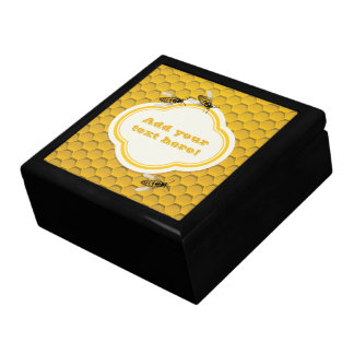 The Honeycomb and Bees Large Square Gift Box