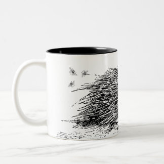 The Honeyed Quill Porcupine Two-Tone Coffee Mug