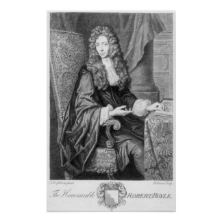 The Honorable Robert Boyle engraved by B. Baron Poster