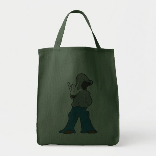 The Hoodie Loves you Canvas Bags