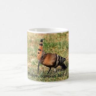 The Hoopoe, national bird of Israel, coffee mug