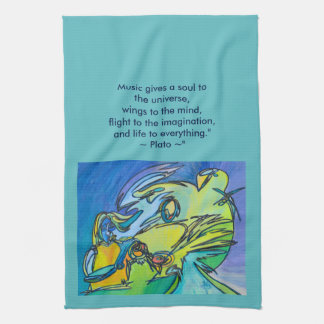 The Horn - Music Themed Series Kitchen Towels