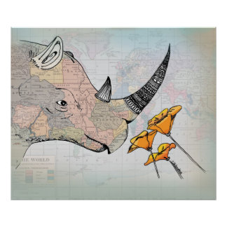 The Horn of Africa - Vintage Map Collage Poster