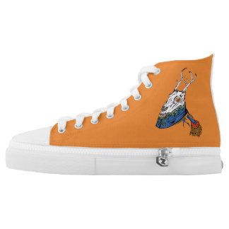 The Horned King creamsicle kicks High Tops