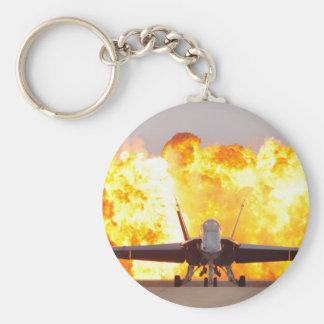 The Hornet Basic Round Button Key Ring