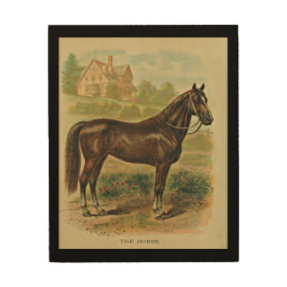 "The Horse 8""x10"" Wood Wall Art"