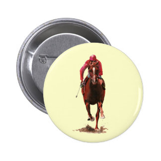 The Horse and Jockey Pinback Button