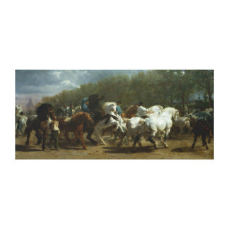 """The Horse Fair"" by Rosa Bonheur Canvas Print"