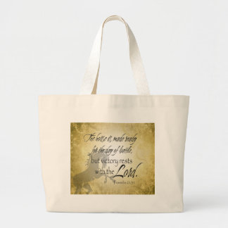 The Horse is made ready Proverbs 21:31 Scripture Large Tote Bag