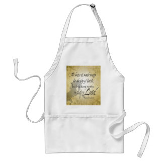 The Horse is made ready Proverbs 21:31 Scripture Standard Apron