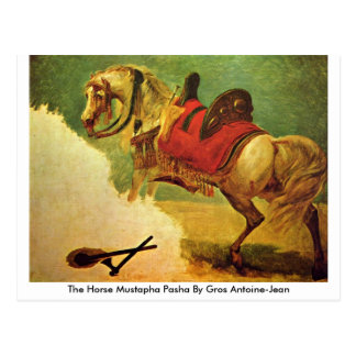 The Horse Mustapha Pasha By Gros Antoine-Jean Postcard