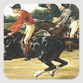 The Horse Race by Theodore Gericault Square Sticker