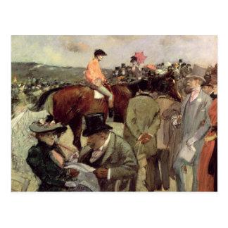 The Horse-Race, c.1890 Postcard