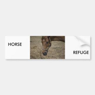 THE HORSE REFUGE BUMPER STICKER