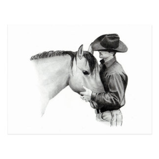 THE HORSE TRAINER #2, in Pencil Postcard