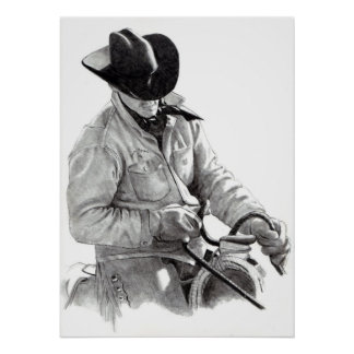 """""""THE HORSE TRAINER"""" in pencil, Poster"""