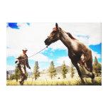 the horse whisperer ranch landscape canvas canvas print