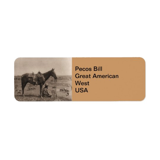 The Horse Wrangler 1910 Return Address Label