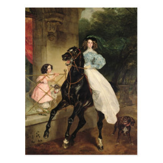 The Horsewoman, Portrait of Giovanina Postcard