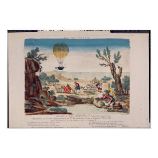 The Hot-Air Balloon of Jean Pierre Blanchard Poster