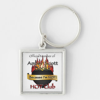 The Hot Club Silver-Colored Square Key Ring