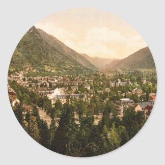 The hotels, Luchon, Pyrenees, France vintage Photo Stickers