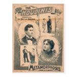 The Houdinis, 'Metamorphosis change in 3 seconds' Postcard