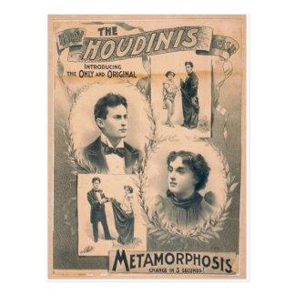 The Houdinis, 'Metamorphosis change in 3 seconds' Postcard
