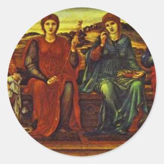 The Hours by Edward Burne-Jones Round Sticker